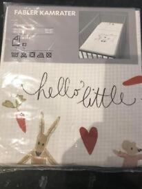 Ikea Cot or Cot Bed duvet and pillow set