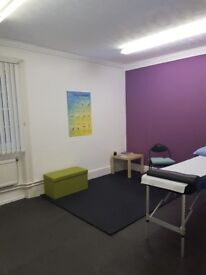 Sports therapy/massage room to rent.