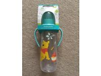 Disney Winnie the Pooh Baby bottle with handle NEW