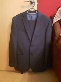 Aspen & court navy blue suit