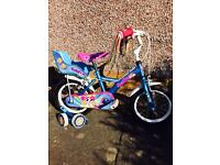 "Apollo PomPom Girls Kids Bike 14"" (4-6 yrs) with manual and Helmet."