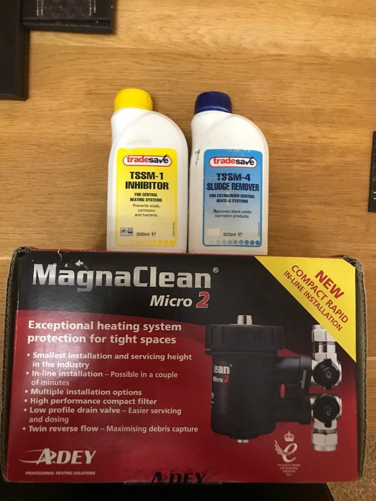 Central heating filter Adey magna clean micro 2 with chemical pack