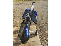Full Set Of Golf Clubs Trolley & Bag