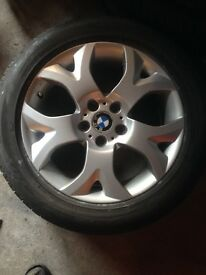 "Genuine BMW X3 18"" alloy wheels and good tyres"