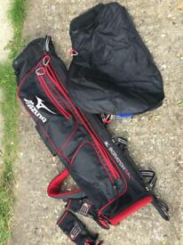 Mizuna golf bag, hood and gloves