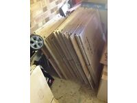 40 cardboard boxes for sale plus packing material - £15
