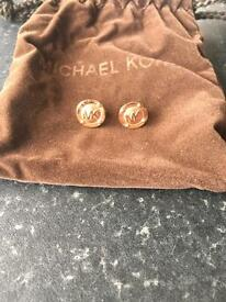 Michael kors rose gold earrings nbw!!