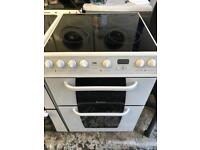 Hotpoint ceramic cooker white colour neat clean and complete working order for sale