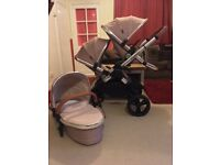 iCandy Peach 3 2016/17 Butterscotch Double Pram Pushchair CAN POST