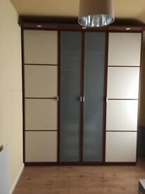 Ikea Hopen Chocolate Wardrobe, with internal drawers, great condition
