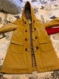 Mini Boden mustard Duffle coat