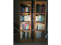 Solid pine book cases good condition
