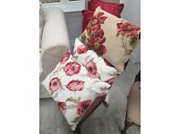 Laura Ashley Tapestry Cushion and two flowery cushions