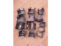Brown Floplast gutter fittings