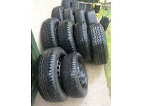 tyres 175/ 60/14. 195/R15. 195/65/15. 215/75/15. 205/55/16