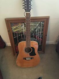 Aria aw-20t twelve string guitar, second hand