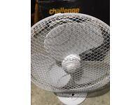 Challenge White Desk Fan - 12 Inch