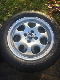 "Mini alloys wheels 15"" 4x100"