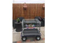 Dog Cage complete with wheels and rainproof cover
