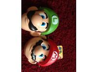 Mario and Luigi masks