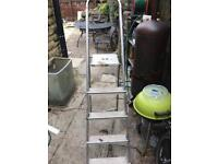 Aluminium Step ladder 4 step and platform top