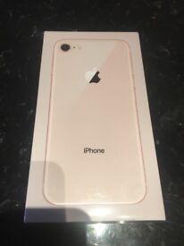 Sealed iPhone 8 64gb gold unlocked