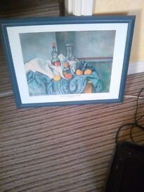 Cezanne Print, Framed, still life with peppermint bottle