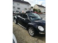 1.9 TDI VW convertible beetle, low mileage, good condition, MOT march 2019