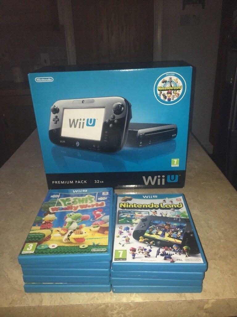 Black Wii U + selection of games