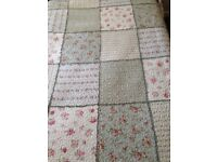 Two Viyella quilted single patchwork bedspreads, immaculate condition