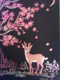 Cartoon etching. Deer Bar