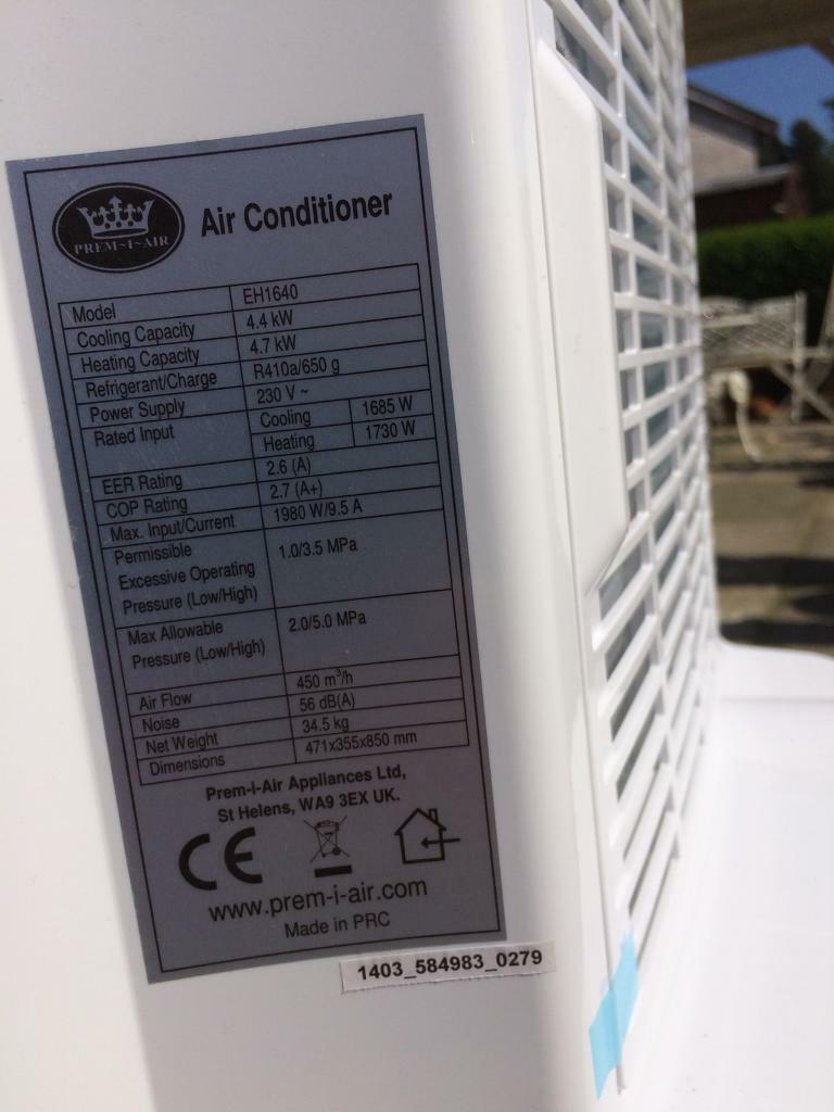 Prem I Air air conditioning unit £250 ono