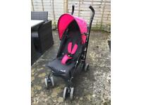 Pink and Black Safety First stroller / buggy