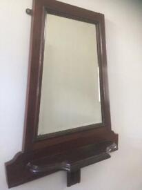 Unusual hall mirror with shelf
