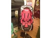 ****SOLD**** Red Quinny Buzz Pram and Carrycot