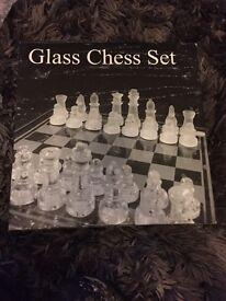 Glass chess set
