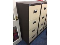 6 x four drawer metal filing cabinets
