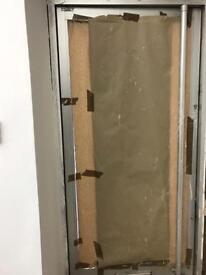 Aluminium frame glass door safety glass