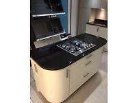 Nero Granite Black Worktops,up stands,sink, tap and gas job