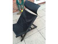 Hammock style black garden chair