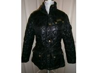 Ladies Barbour quilted black jacket, size 14