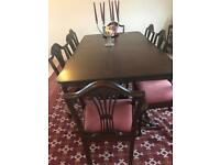 Reproduction table and 6 chairs