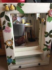 Unusual large fabric mirror