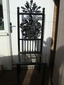 Chair High back Chair Throne with Coat of Arms and Thistle.