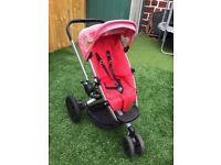 Red Quinny Travel System with Maxi Cosi Car Seat 3 in 1 in Very Good Condition!!!
