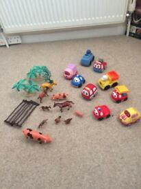 Toy bundle v tech cars and animals