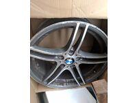 2x BMW 19 Inch M sport rear alloy
