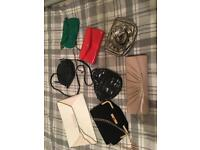 Selection of cross over clutch bags