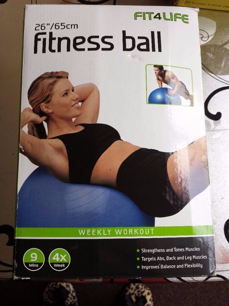NEW Fitness Ballin Hodge Hill, West MidlandsGumtree - NEW Fitness ball in blue color with dual action air pump. inflates to 65 cm 26 inch