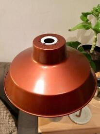 Copper light shade 30cm